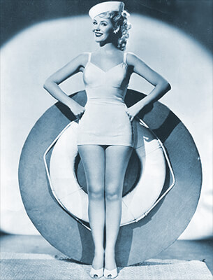 Pretty face - 1950s sailor pinup