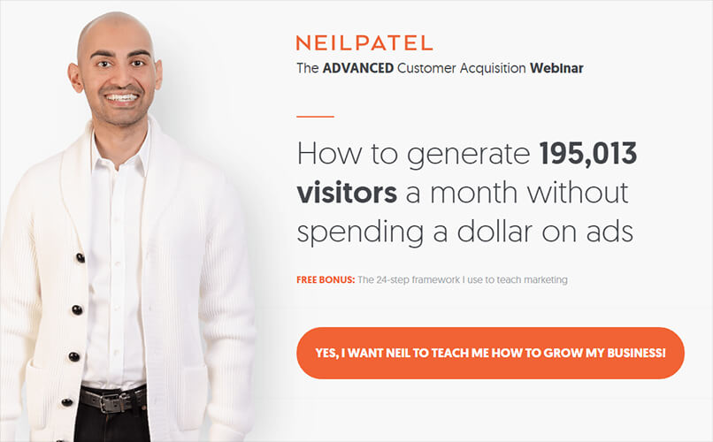 Neil Patel - how to generate 195,013 visitors a month